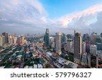 makati city skyline   manila ... | Shutterstock . vector #579796327