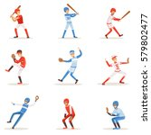 professional league baseball... | Shutterstock .eps vector #579802477