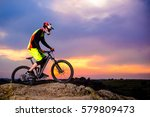 professional cyclist riding the ... | Shutterstock . vector #579809473