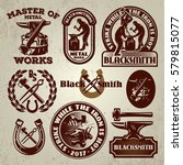 vector set of badge  design... | Shutterstock .eps vector #579815077