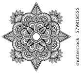 mandala ornament. vintage... | Shutterstock .eps vector #579818533