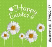 happy easter spring holiday... | Shutterstock .eps vector #579822487