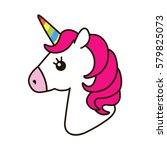 unicorn vector icon isolated on ... | Shutterstock .eps vector #579825073