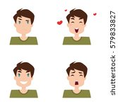 boy expression faces | Shutterstock .eps vector #579833827