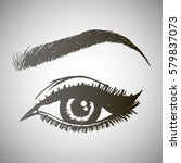 illustration with woman's eye... | Shutterstock .eps vector #579837073