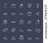 clothes shopping concept... | Shutterstock .eps vector #579839197