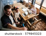 image of young colleagues... | Shutterstock . vector #579845323