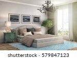 bedroom interior. 3d... | Shutterstock . vector #579847123