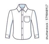 white long sleeve shirt vector... | Shutterstock .eps vector #579848917
