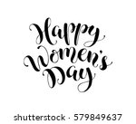 happy women's day text for... | Shutterstock .eps vector #579849637