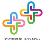 color plus sign vector logo | Shutterstock .eps vector #579853477