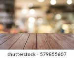 brown wooden background and... | Shutterstock . vector #579855607
