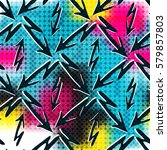 graffiti abstract seamless... | Shutterstock .eps vector #579857803