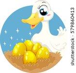 storybook illustration... | Shutterstock .eps vector #579860413