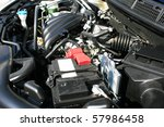new car powerful engine. | Shutterstock . vector #57986458
