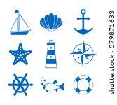 sea symbols icons | Shutterstock .eps vector #579871633