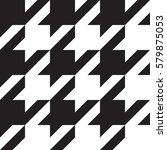 houndstooth black and white... | Shutterstock .eps vector #579875053