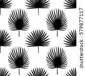 seamless pattern of fan palm... | Shutterstock .eps vector #579877117