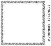 ornate square black frame.    Shutterstock .eps vector #579878173