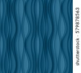 Vector Blue Seamless Wavy...
