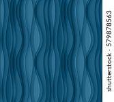 Vector Blue Seamless Wavy...