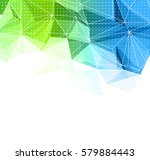 vector abstract retro geometric ... | Shutterstock .eps vector #579884443