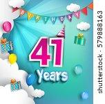41st anniversary celebration... | Shutterstock .eps vector #579888163