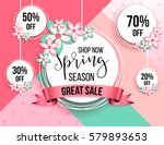 spring season sale offer ... | Shutterstock .eps vector #579893653