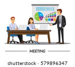 business people having board... | Shutterstock .eps vector #579896347
