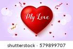 greeting  romantic greeting... | Shutterstock .eps vector #579899707
