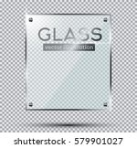 glass plate with steel rivets...