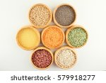 diversity colored beans in... | Shutterstock . vector #579918277