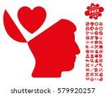 open mind love heart pictograph ... | Shutterstock .eps vector #579920257