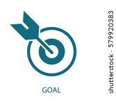 goal icon  | Shutterstock .eps vector #579920383