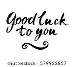 vector modern brush calligraphy ... | Shutterstock .eps vector #579923857