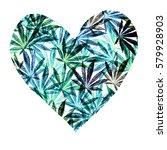 Heart Of Bright Blue Cannabis...