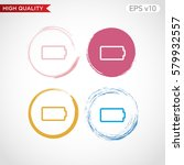 battery level icon. button with ... | Shutterstock .eps vector #579932557