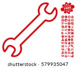 contour wrench pictograph with...   Shutterstock .eps vector #579935047