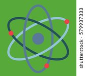atom sign science green | Shutterstock .eps vector #579937333
