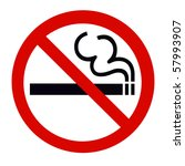 symbol of no smoking zone sign... | Shutterstock . vector #57993907