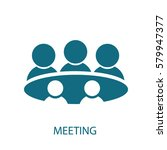 meeting icon | Shutterstock .eps vector #579947377