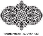 ethnic horizontal  mandala... | Shutterstock .eps vector #579954733