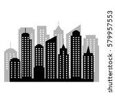 city silhouette  | Shutterstock .eps vector #579957553