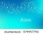 scientific chemistry pattern.... | Shutterstock .eps vector #579957793