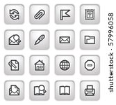 e mail web icons on gray... | Shutterstock .eps vector #57996058