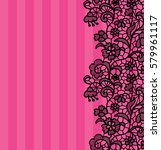seamless lace border. vector... | Shutterstock .eps vector #579961117