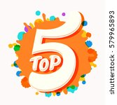 top 5 icon. | Shutterstock .eps vector #579965893