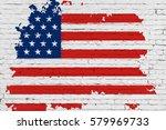 united states of america flag...   Shutterstock . vector #579969733