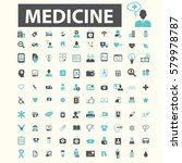 medicine icons  | Shutterstock .eps vector #579978787