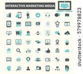 interactive marketing media... | Shutterstock .eps vector #579978823